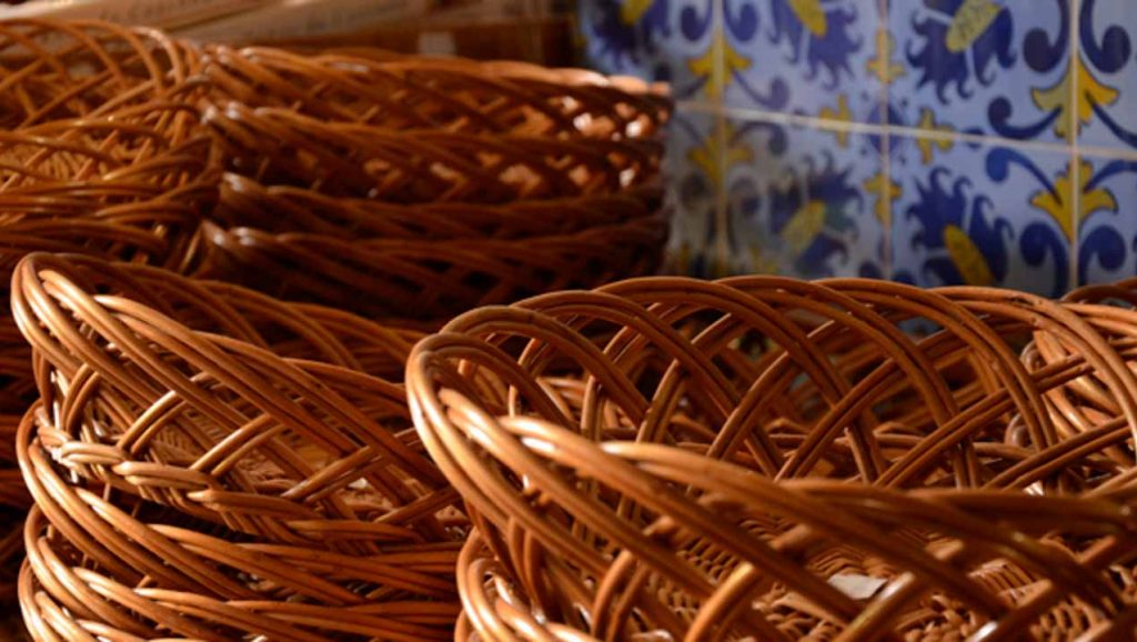 Wicker work traditional from Madeira Island